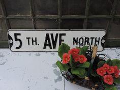 Vintage Street Sign 5th Ave. St. Sign Metal by used2bnewVintage ~ETS #streetsign #vogueteam #etsygifts