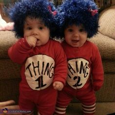 Halloween costumes. I don't have twins but this is flippin cute