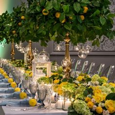 Capri Inspired Decor at The Estate Bridal Shower Decorations, Flower Decorations, Wedding Decorations, Table Decorations, Mediterranean Wedding, Wedding Officiant, Wedding Show, Deco Table, Wedding Themes