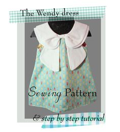 The Wendy dress Sewing pattern double peter pan by soubelles