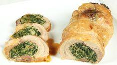 Coscia di tacchino agli spinaci | Cookaround Carne, Spanakopita, Fresh Rolls, Sushi, Dishes, Meat, Chicken, Ethnic Recipes, Cooking