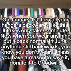 Try this hack to get rid of clothes just wasting space.