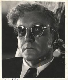 Weegee - Close-up of Peter Sellers on the set of the film Dr. Strangelove (1963)