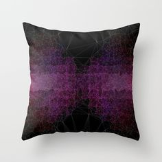Abstract Polygons Throw Pillow #polygons, #abstract, #vector, #polygon, #purple, #geometric,