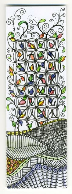 Linda Stoker - bookmark zentangle • ❃ • ❋ • ❁ • tanglebucket • ✿ • ✽ • ❀ •: swaps (and the women who love them).