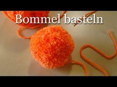 Bommel selber machen - Pompons einfach basteln - Basteln mit Wolle im Wi...