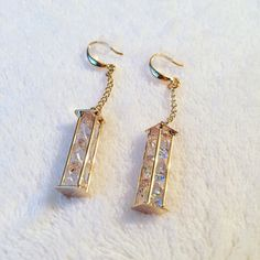 """NWOT Columns of """"diamonds"""" NWOT Columns of diamonds will look perfect dangling from your ears. Jewelry Earrings"""