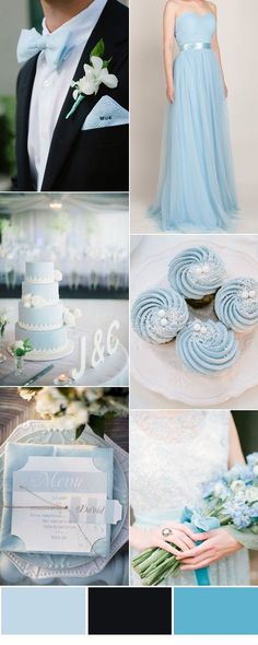 Top Five Colors For Tulle Convertible Bridesmaid Dress - - light blue and black wedding inspiration with bridesmaid dresses Source by stephaniekase Black Bridesmaids, Black Bridesmaid Dresses, Wedding Bridesmaids, Trendy Wedding, Dream Wedding, Wedding Blue, Light Blue Wedding Dress, Light Wedding, Blue Wedding Cupcakes