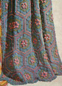 Hexagon Flowers Afghan – Free Crochet Pattern