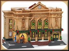 Union Station animated NEW Department Dept. 56 Christmas In The City Village CIC