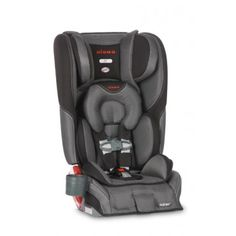 The Diono Rainier Convertible+Booster Car Seat is highly versatile for your convenience. It features a higher weight capacity than many other convertible car seats with a rear-facing capacity that holds children from 5-50 lbs. and forward-facing children from 20-90 lbs. in a 5-point harness. The booster seat also converts for children up to 120 lbs.