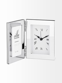 Table clock with space for photo