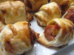 COOKING JULIA : FEUILLETÉS ROULÉS À LA SAUCISSE Pretzel Bites, Baked Potato, Entrees, Tapas, Rolls, Bread, Cooking, Buffets, Ethnic Recipes