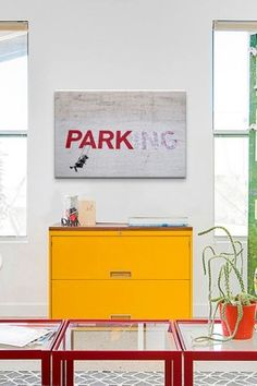 Parking Girl Swing by Banksy Canvas Print