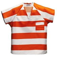 Inmate Shirts Striped colors Sizes Small - 10XLarge