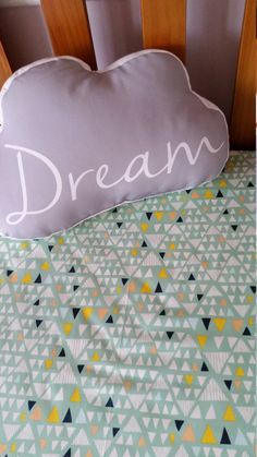 Fitted cot sheet Cotton, Modern Nursery, Art Gallery ,Triangles, Teepees . Ready made,Kawaii,  Handmade by Kittyandzac by kittyandzacs on Etsy