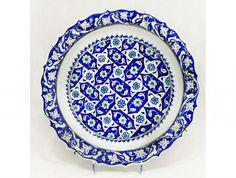 116 - İznik Mavi Beyaz Tabak Blue Pottery, Ceramic Art, Dinnerware, Objects, Ceramics, Tableware, Baby, Dishes, Dinner Ware