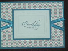 Masculine Birthday Card - Stampin Up Winter Frost DSP