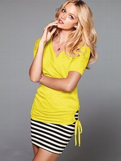 A top with a little something extra: the V-neck Tie Tunic from Victoria's Secret.