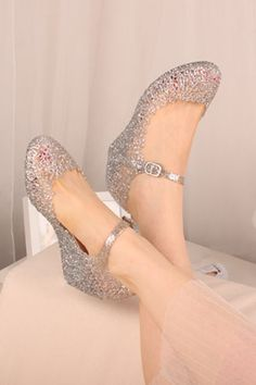 Retro Plastic Silver Sandal