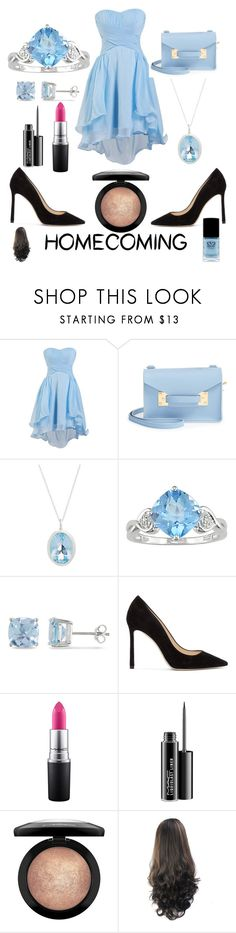 """""""Homecoming"""" by jpc51105 ❤ liked on Polyvore featuring Sophie Hulme, Augustine Jewels, Ice, Jimmy Choo, MAC Cosmetics and Eve Snow"""