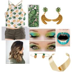 DK's Jungle Parkway by process-red on Polyvore featuring WithChic, RVCA, Kenneth Jay Lane, Dolce&Gabbana, Humble Chic and Casetify