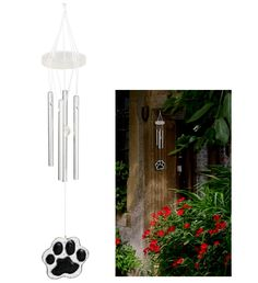 Animal Rescue - Pet Shop - Paw Print Wind Chime