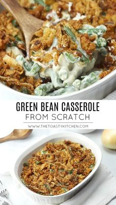You Have Meals Poisoning More Normally Than You're Thinking That Green Bean Casserole From Scratch - The Toasty Kitchen Side Dish Recipes, Side Dishes, How To Cook Mushrooms, Thanksgiving Recipes, Winter Recipes, Christmas Recipes, Green Bean Casserole, Dinner Menu, Dinner Ideas