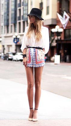 Look short mujer, moda verano 2013