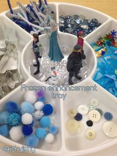 Children love FRozen, allow them to explore winter with materials that familiar and inspiring Frozen Activities, Eyfs Activities, Winter Activities, Christmas Activities, Playdough Activities, Preschool Winter, Winter Craft, Frozen Theme, Frozen Party