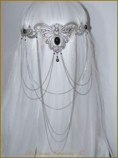 Diad�me Pince � Cheveux Papillon Mariage Elfique Medieval Fantasy Arwen Seigneur des anneaux LOTR Tiara