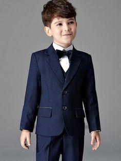 Solid Color Turn-down Collar Long Sleeves Coat&Pants&Vest&Tie