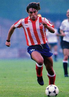 Paulo Futre of Atletico Madrid & Portugal in 1987.