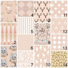 New to HudsonBabyCompany on Etsy: Crib bedding - pink gold peach - deer arrows and aztec themes - fawn over me with stag prints and navajo florals (20.00 USD)
