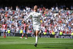 Cristiano Ronaldo scored five goals as Real Madrid moved to within one point of Barcelona at the top of La Liga.