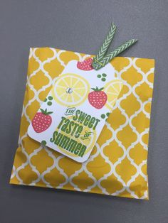 CTMH Taste Of Summer Goodie Bag. Created by Tina Sutton