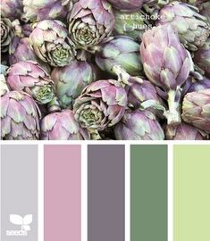 artichoke - I've always loved the red/green colour palette in all it's variations. This paler toned palette is SO relaxing...