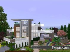 This modern house enough space for your sims family with large and spacious rooms. This house unfurnished and it has two bedrooms, two bathrooms. It comes with a garden like paradise.
