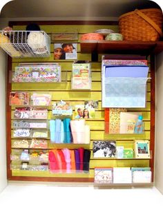 I totally need to transform one of my closets into craft storage and I need it to look amazing like this!
