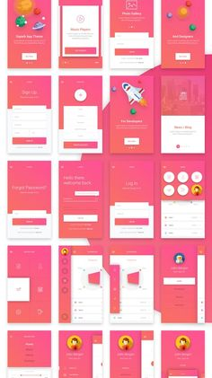 Matta - Material Design Mobile UI Kit on Behance Best Picture For travel App Design For Your Taste You are looking for something, and it is going to tell you exactly what you are looking for, and you Mobile Ui Design, Ui Ux Design, Dashboard Design, Intranet Design, Mobile Application Design, Dashboard Ui, Design Layout, User Interface Design, Flat Design