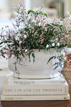 how to decorate with flowers adding jasmine to a coffee table
