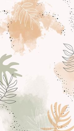 Download premium vector of Beige leafy watercolor mobile phone wallpaper vector by Aum about green background, floral backgrounds, watercolor greenery, Wallpaper iphone wallpaper watercolour, and watercolor leafy mobile phone wallpaper 1222754