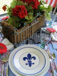 Fleur De Lis dishes  #fleur_de_lis #dinnerware