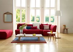 Brilliant ideas for your living room design - 40 furnishing examples - Home Decoration Decor, Living Room Ideas Uk, Red Sofa Living Room, Room Interior, Red Furniture Living Room, Living Room Interior, Cosy Living Room, Interior Decorating Living Room, Living Room Designs