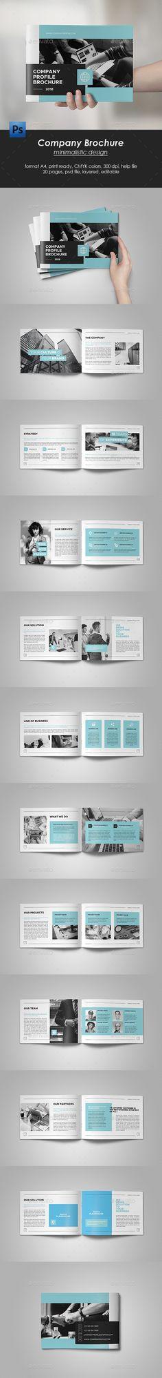 Company Brochure Template PSD