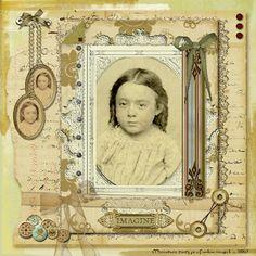 Ancestry / Family history / Genealogy scrapbook page
