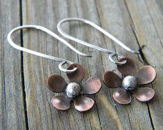 Custom Order for CK Copper Flower Sterling by dreambelledesign