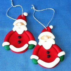 POLYMER CLAY ORNAMENTS | Polymer Clay Christmas Ornaments All Free Crafts…