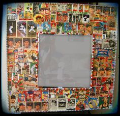 vintage+baseball+mirror | Baseball Card Decoupage Mirror Japanese Kitsch Decorative Wall Mirror ...