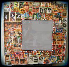 vintage+baseball+mirror | Baseball Card Decoupage Mirror Japanese Kitsch Decorative Wall Mirror ...